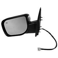 Fits 04-14 Armada Left Driver Chrome Power Mirror W/Ht,Mem,Lamp,Sing Arm,ManFold