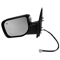 Fits 04-10 QX56 Left Driver Chrome Mirror W/Heat, Mem, Lamp, Sing Arm, Man Fold