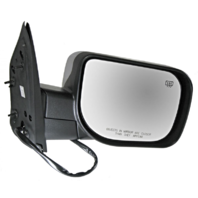 Fits 04-14 Titan Right Pass Chrome Power Mirror W/Ht,Mem,Lamp,Sing Arm, Man Fold