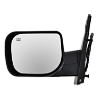 Fits 04-15 Titan / Armada Left Driver Text Power Mirror W/Ht,Single Arm,Man Fold