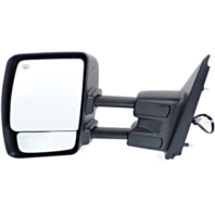 Fits 12-17  NV Left Driver Power Mirror With Heat Tow Chrome Manual Fold