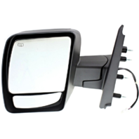 Fits 12-13  NV Left Driver Power Mirror W/Heat No Towing Package Textured