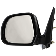 Fits 12-14  Versa Left Driver Manual Remote Mirror Textured Black