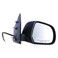 Fits 12-14  Versa Right Passenger Manual Remote Mirror Textured Black