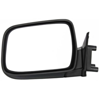 Fits 98-04  Frontier Left Driver Manual Mirror Manual Fold Textured Black