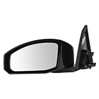 Fits 03-09  350Z Left Driver Unpainted Power Mirror Smooth Black No Heat