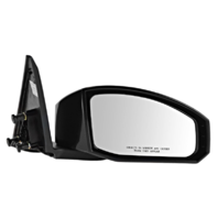 Fits 03-09  350Z Right Pass Unpainted Power Mirror Smooth Black No Heat
