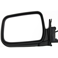 Fits 00-04  Xterra Left Driver Power Mirror Manual Folding Textured Black
