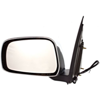Fits 05-16 Frontier 09-13 Equator Left Driver Power Mirror Manual Fold Chrome