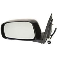 Fits 05-16 Frontier 09-13 Equator Left Driver Power Mirror Unpainted Manual Fold