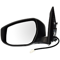 Fits 13-15  Sentra Left Driver Power Mirror Unpainted No Heat Or Signal