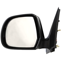 Fits 12-14  Versa Sedan Left Driver Power Mirror Unpainted No Heat