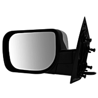 Fits 04-14 Titan Left Driver Chrome Mirror With Single Arm Manual Folding