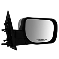 Fits 04-14 Titan Right Pass Chrome Power Mirror W/Single Arm Manual Folding