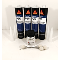 Auto Glass Urethane / Adhesive / Sealant  Primerless to Glass 4 Tubes Sika P2G & Pinchweld Primer 207