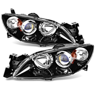 Fits 04-09  3 SEDAN LEFT & RIGHT SET HALOGEN HEADLAMP ASSEMBLIES