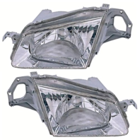 Fits 99-00 Mazda Protege Left & Right Headlamp Assemblies - pair