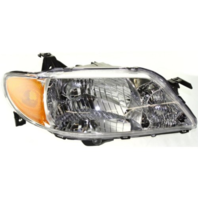 Fits 01-03  PROTEGE SEDAN RIGHT PASS HEADLAMP ASSEMBLY With/ALUMINUM BEZEL