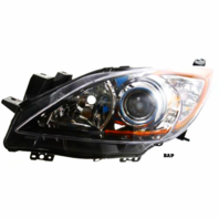 Fits 10-13  3 LEFT DR HALOGEN HEADLAMP ASSEMBLY With/CHROME PROJECTOR BEZEL