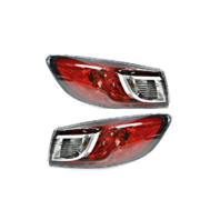 FITS 10-13 MAZDA 3 SEDAN LEFT & RIGHT SET TAIL LAMP ASSEMBLIES BULB TYPE