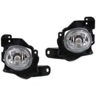 Fits 10-13  3 speed Left & Right Round Fog Lamp Assemblies - pair
