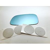 Fits 92-96 Mitsubishi Diamante Left Driver Blue Mirror Glass Lens w/ Adhesive