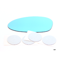 Fits Left Driver Blue Mirror Glass Lens w/Silicone for BMW 3 Series 3 Options