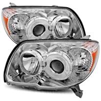 Fits 06-09 Toyota. 4Runner Left & Right Headlight Units W/chrome Bezel - pair