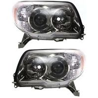 Fits 06-09 . 4Runner Left & Right Headlight Units W/Smoked Bezel - pair