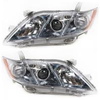 Fits 07-09 Toy Camry Hybrid Driver & Passenger Headlight Assemblies (pair)