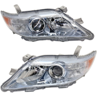 Fits 10-11 Toy Camry Hybrid Driver & Passenger Halogen Headlight Assem (Pair)