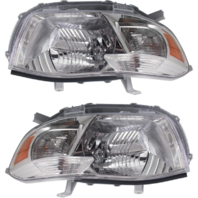 Fits 08-10 Toyota Highlander (except Hybrid) L & R Headlamp Assys Clear Lens (pair)