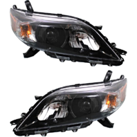 Fits 11-17  Sienna Left & Right Side Halogen Headlights w/smoked bezel