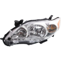 Fits 11-13 Toy Corolla Left Driver Side Headlamp Assem w/Chrome Housing