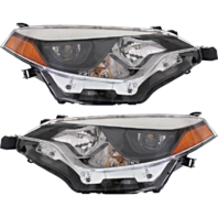 FITS 14-16 TOYOTA COROLLA LEFT & RIGHT SET HEADLAMP ASSEMBLIES
