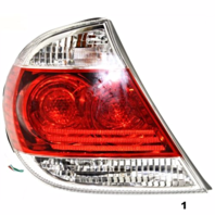 FITS 05-06 TOYOTA CAMRY LEFT DRIVER TAIL LAMP ASSEMBLY With CHROME TRIM