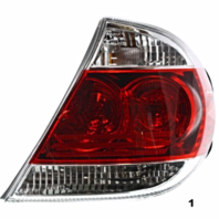 Fits 05-06 Toyota CAMRY RIGHT PASSENGER TAIL LAMP ASSEMBLY With CHROME TRIM