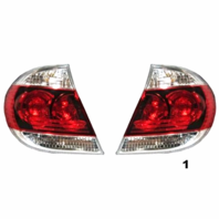 Fits 05-06  CAMRY LEFT & RIGHT SET TAIL LAMP ASSEMBLES W/BLACK TRIM