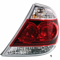 Fits 05-06 Toyota CAMRY RIGHT PASSENGER TAIL LAMP ASSEMBLY W/BLACK TRIM
