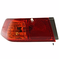 Fits 00-01  CAMRY LEFT DRIVER TAIL LAMP ASSEMBLY QUARTER MOUNTED