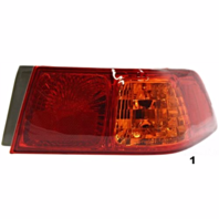 Fits 00-01  CAMRY RIGHT PASSENGER TAIL LAMP ASSEMBLY QUARTER MOUNTED