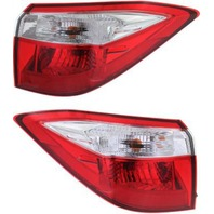 Fits 14-16  COROLLA LEFT & RIGHT SET TAIL LAMP ASSEMBLES QUARTER MOUNTED