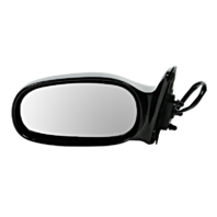 Fits 98-02 Prizm / Corolla Left Driver Power Mirror Non-Painted Black