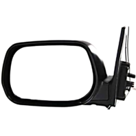 Fits 01-05 Toyota Rav4 Left Driver Mirror Power Non-Painted Black With Heat