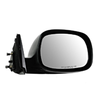Fits 00-06 Tundra Right Pass Mirror Manual Non-Painted Black Regular/Access Cab