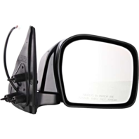 Fits 00-04 Toyota Tacoma Right Passenger Mirror Power Non-Painted Black Folding