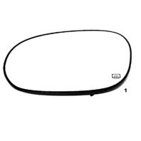 Fits 08-15 DG Challenger Left Driver Heated Mirror Glass w/Rear Holder  OEM