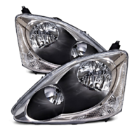 Fits 04-05 Honda Civic Hatchback (exc sedans,coupes,wagons) L&R Headlamps (pair)