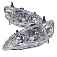 Fits 04-05  Civic Sedan & Coupe (exc hatchback, wagon) L&R Headlamps (pair)
