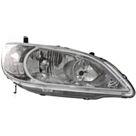 Fits 04-05  Civic Sedan & Coupe (exc hatchback, wagon) Right Psngr Headlamp